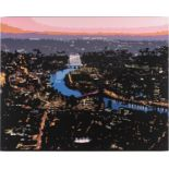 Alicia Dubnyckyj, The River II, London, gloss paint on board, signed and titled verso, 60 cm x 75