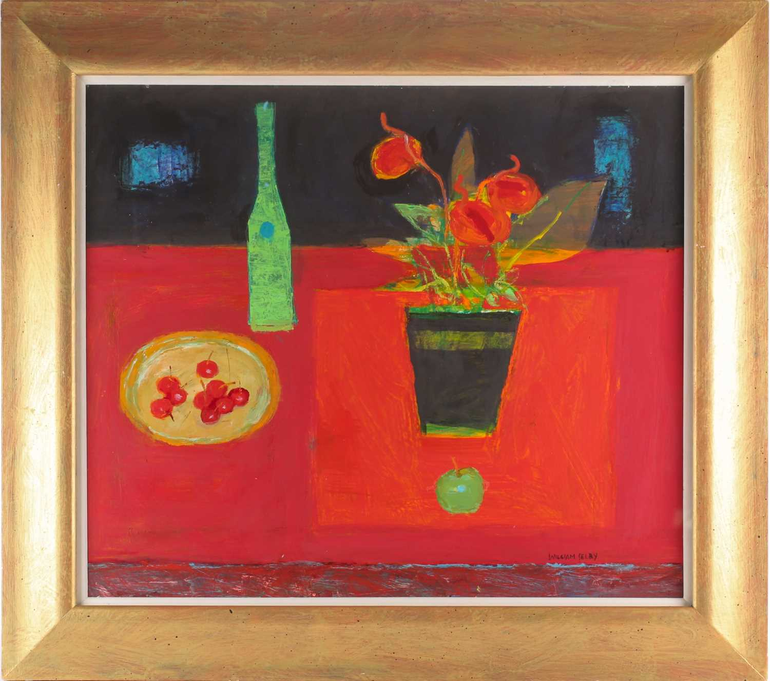 William Selby, (B. 1933), Green Bottle, acrylic on board, signed lower right, 64 cm x 74 cm. Ex