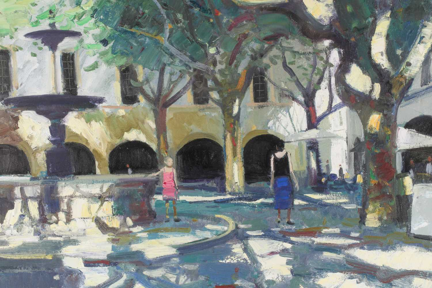 John Kingsley, RSW, PAI (Scottish), Late afternoon, Uzes, oil on canvas, signed lower left, 60 cm - Image 4 of 5