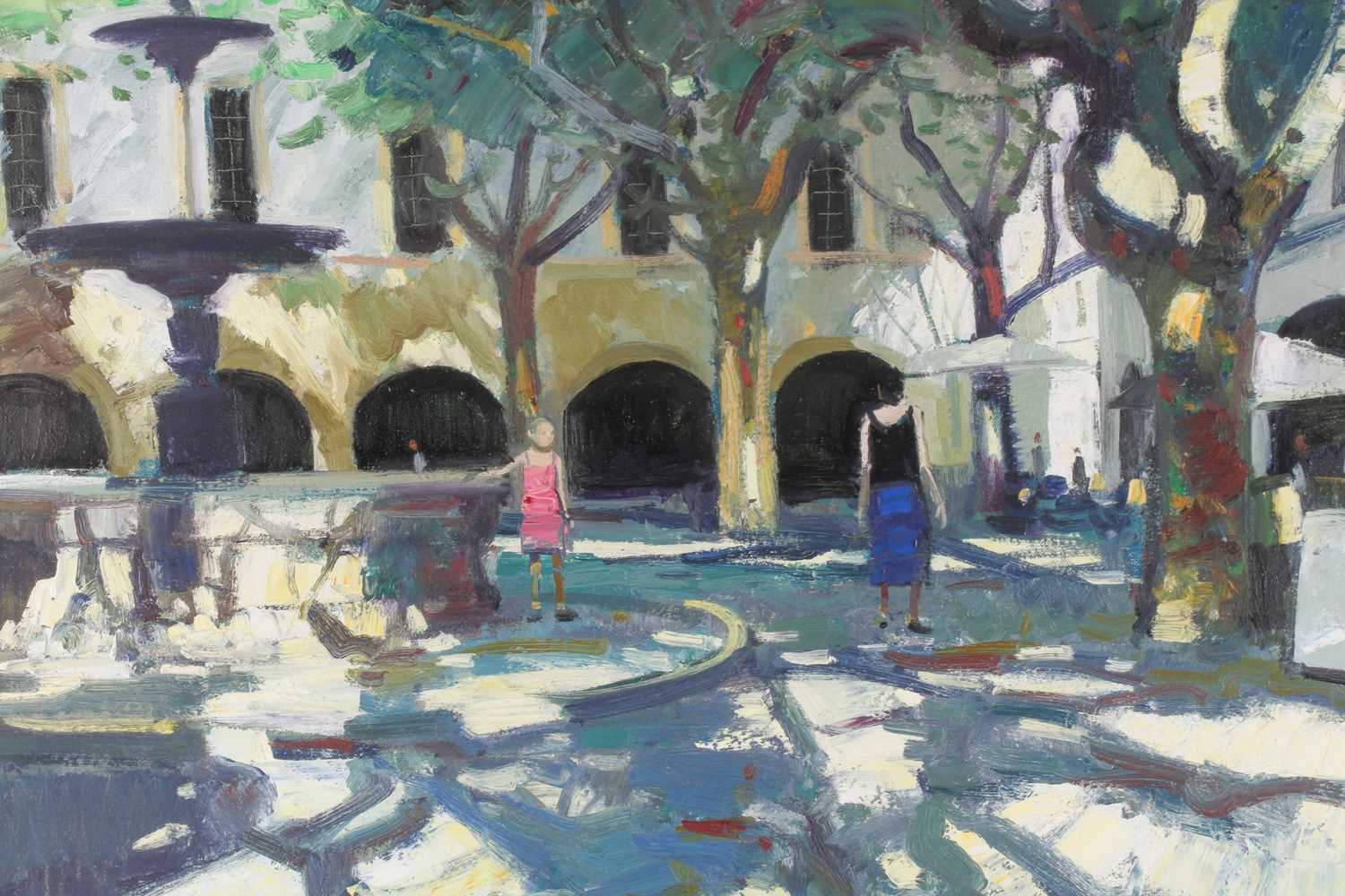 John Kingsley, RSW, PAI (Scottish), Late afternoon, Uzes, oil on canvas, signed lower left, 60 cm - Image 3 of 5