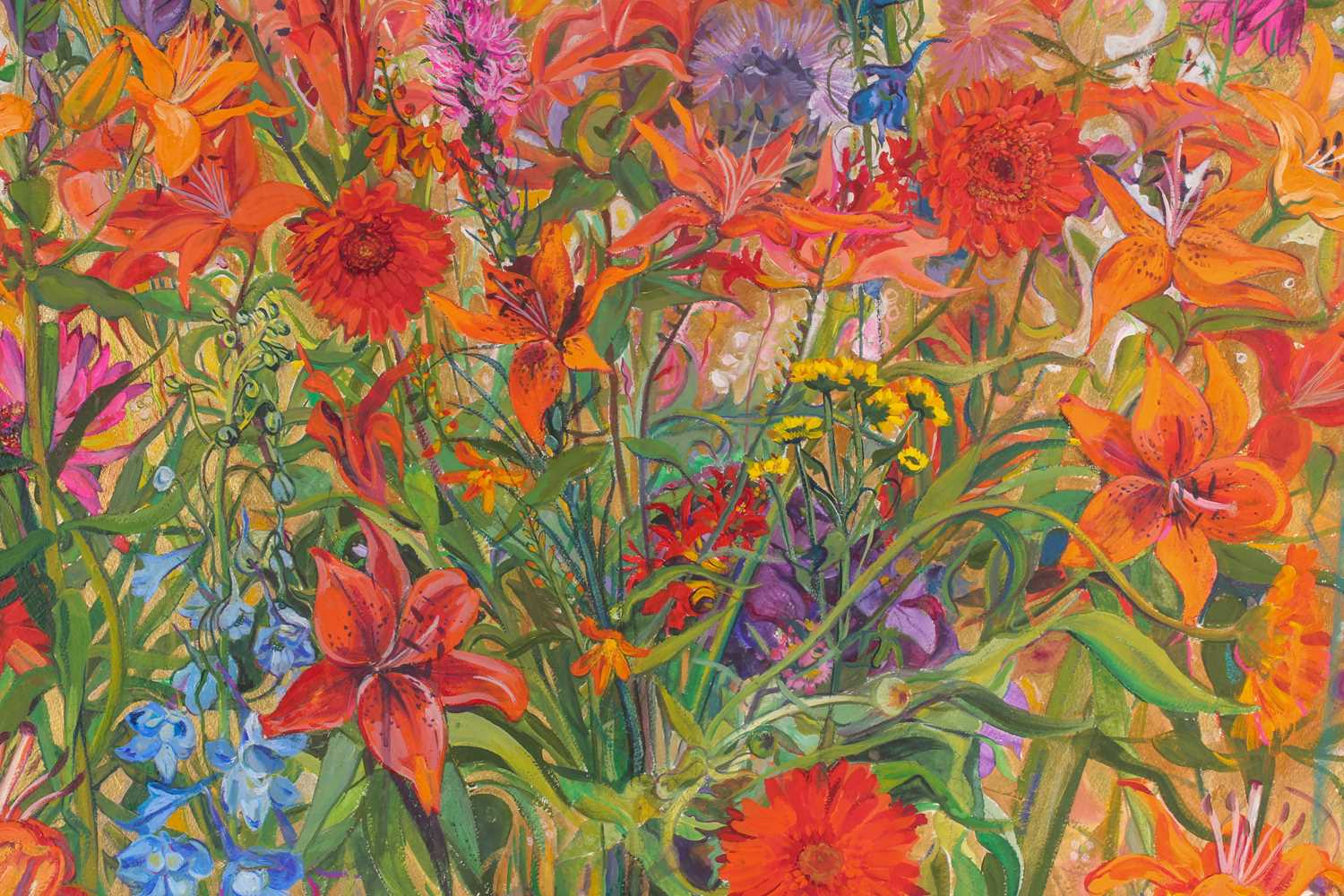 D Lindsay, English cottage garden, watercolour and gouache, signed and dated 99 lower right, 55 cm x - Image 3 of 4