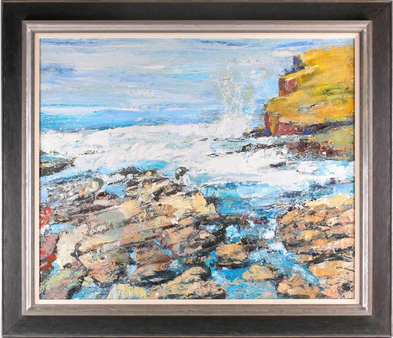 Peter McLaren, (B. 1964), Orkney, 1998, oil on board, 76 cm x 91 cm. Ex City Gallery