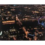 Alicia Dubnyckyj, Above Westminster IV, London, gloss paint on board, titled, signed and dated