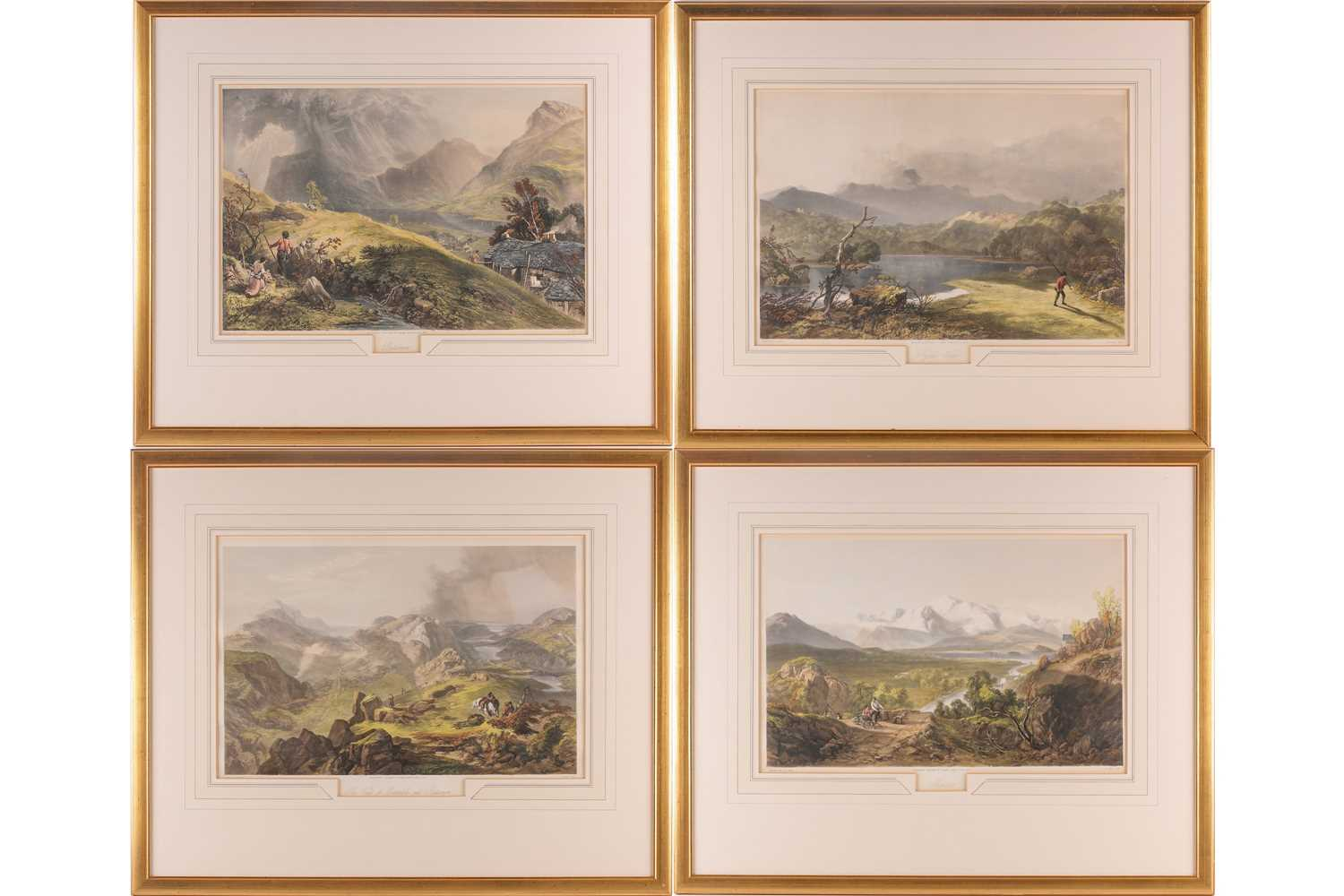 Gauci after J B Pyne, Skiddaw, Buttermere, The Vales of Emmerdale and Buttermere, The Rydal Water,