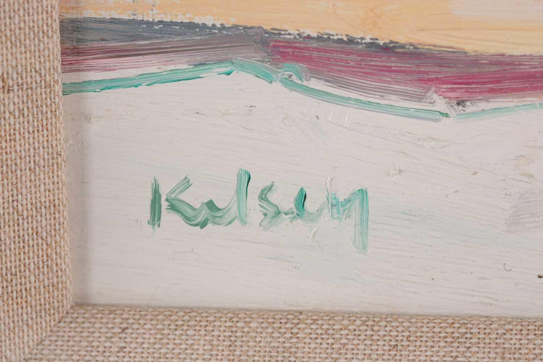 Robert Kelsey DA, MUniv, PAI, FRSA (B. 1949), Cherry Blossom, oil on canvas, signed lower left, 30 - Image 3 of 4