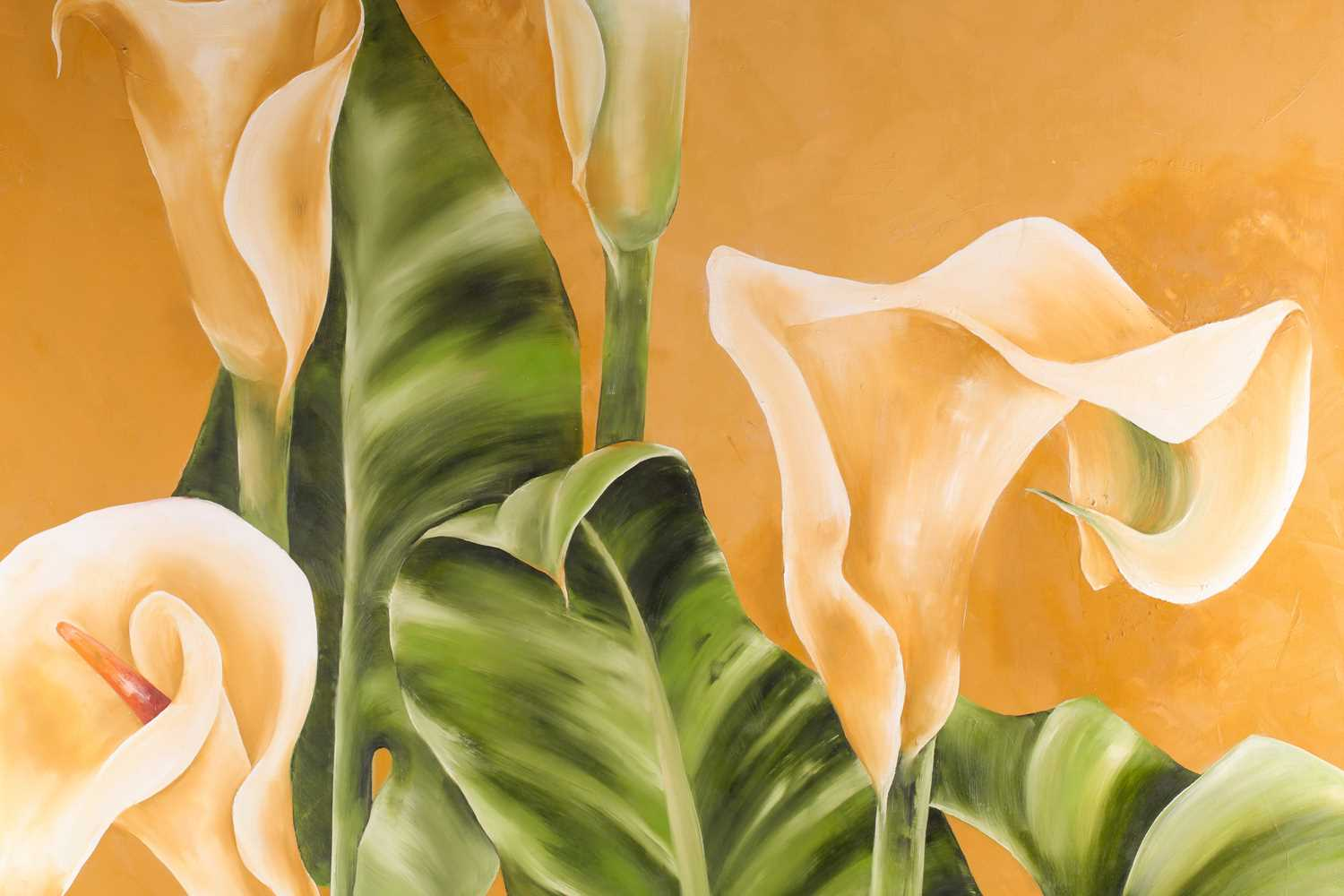 Lize-Maria Van Der Merwe, Arum Lilies, oil on cancas, signed and dated 2001 lower right, 99 cm x 100 - Image 4 of 4