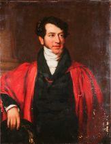 School of Sir Thomas Lawrence (1769-1830), a half-length portrait of John Carr Badeley (1794-