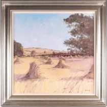 Robert Kelsey DA, MUniv, PAI, FRSA (B. 1949), Soft summer light, Devon, oil on canvas, signed