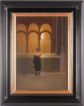 Peter Kelly NEAC RBA (1931-2019), The English Girl in Mesquita, oil on canvas board, signed with