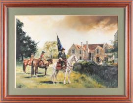 Chris Collingwood (20th century), an original watercolour and bodycolour, used as the cover for '