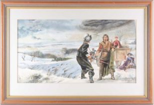 Chris Collingwood (20th century), 'Cover for Maelstrom', watercolour and bodycolour, signed to lower