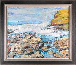 Peter McLaren, (B. 1964), Orkney, 1998, oil on board, 76 cm x 91 cm, Ex City Gallery.