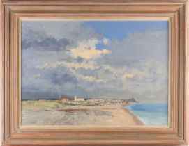 Ian Houston, (1934-2021), The Church by the shore, Pakefield, gouache on board, signed lower left,