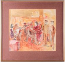 William Gaunt (1900-1980), 'West India Dock Road', 1933, watercolour, signed to lower right