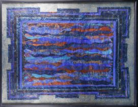 † Katherine Virgil, Alchemy of Krishna, mixed media, label verso, 106 cm x 135 cm.