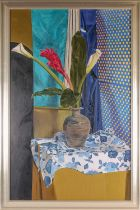 † Ben Hongalez, The Ginger Flower, oil on canvas laid onto board, signed and dated 97 lower left,