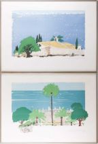 † Paul Hogarth OBE R.A. (1917-2000) British, two limited edition signed prints, 'Villa by the