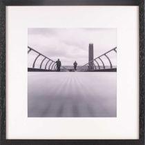 † Manuela Hofer, Urban Perspectives, Millenium Bridge London, photographic print, 29 cm x 29 cm.