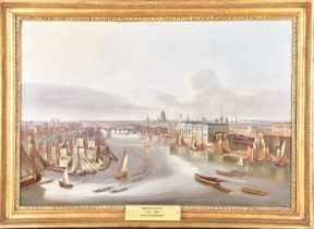 20th century school, a view of the River Thames (c.18th century), oil on board, 43.5 cm x 63 cm in a