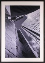 † Richard Urwin, Canary Wharf, Verticals 1, London, photographic print, 74 cm x 48 cm. Ex. Lambda.