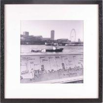 † Manuela Hofer, Urban Perpectives River Thames London, photographic print, 29 cm x 29 cm, Ex