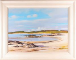 † Alister Thomson, (Scottish. B. 1929), Traigh Bay, oil on canvas, signed lower right, 56 cm x 76