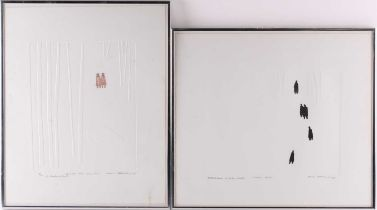 David Shapiro (1944-2014) American, two limited edition signed prints, 'Winter Time' (Artist Proof),