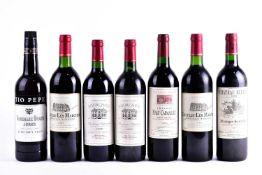Six bottles of 75cl red wine: 1994 Chateau Les Marches Bordeaux (x2), 1995 Chateau Forchou