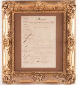 An 1811 Napoleon Bonaparte (1769-1821) signed letter/document, 'to His Majesty the Emporer and