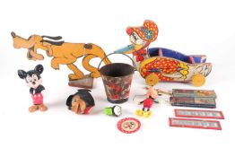 Disneyalia; a group of early 20th Walt Disney toys, memorabilia and collectables. To include a Pluto