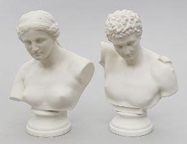 Paar Büsten nach der Antike.
