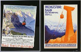 2 alte Werbeplakate: