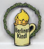 "Blechschild ""Berliner Kindl""."
