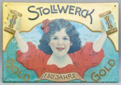 """Werbeschild """"STOLLWERCK""""."""