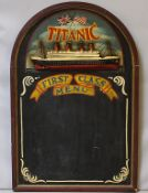 "Tafel ""TITANIC First Class Menu""."