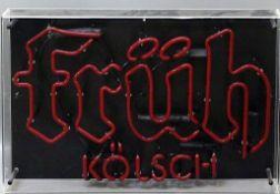 "Neon-Reklame ""früh Kölsch""."