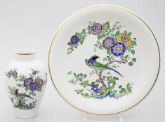 Vase und Wandteller, Meissen.