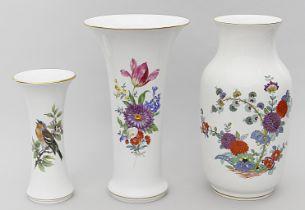 Drei Vasen, Meissen.