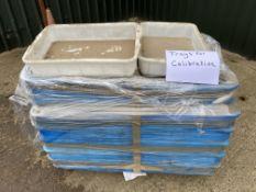 Pallet of plastic Trays