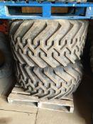 Pair of 48 x 25.00 - 20 NHS Terra Tyres