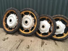 Set of 4 row crop Wheels to fit a Spraye
