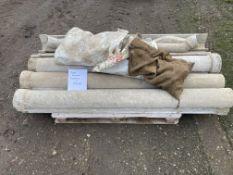 Pallet of assorted fibre cement Gutters,