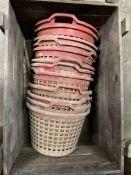Quantity of plastic picking Baskets