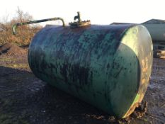 10,000 litres steel cylindrical fuel Tan