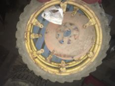 Pair of 6.00 x 36 rowcrop Wheels to fit