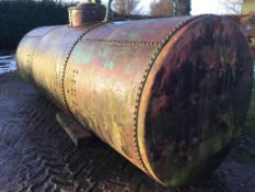 12,250 litres steel cylindrical fuel Tan