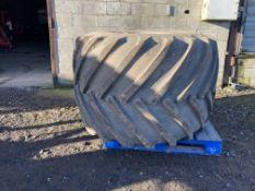 Pair of 66 x 43.00 - 25 NHS Terra Tyres