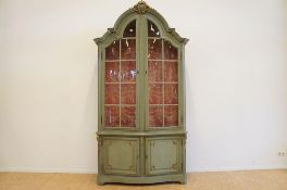 Groen Louis XVI-stijl vitrinekast