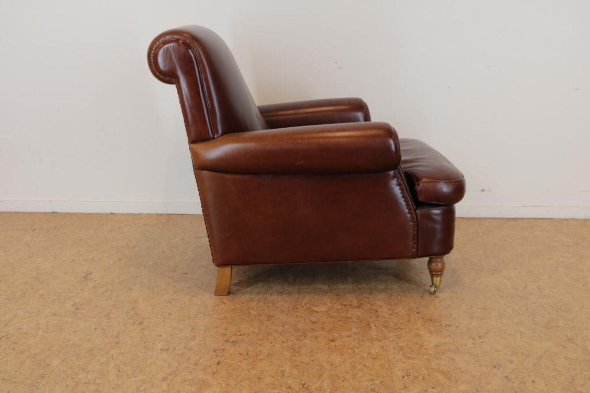 Bruinlederen Baxter fauteuil - Image 4 of 5