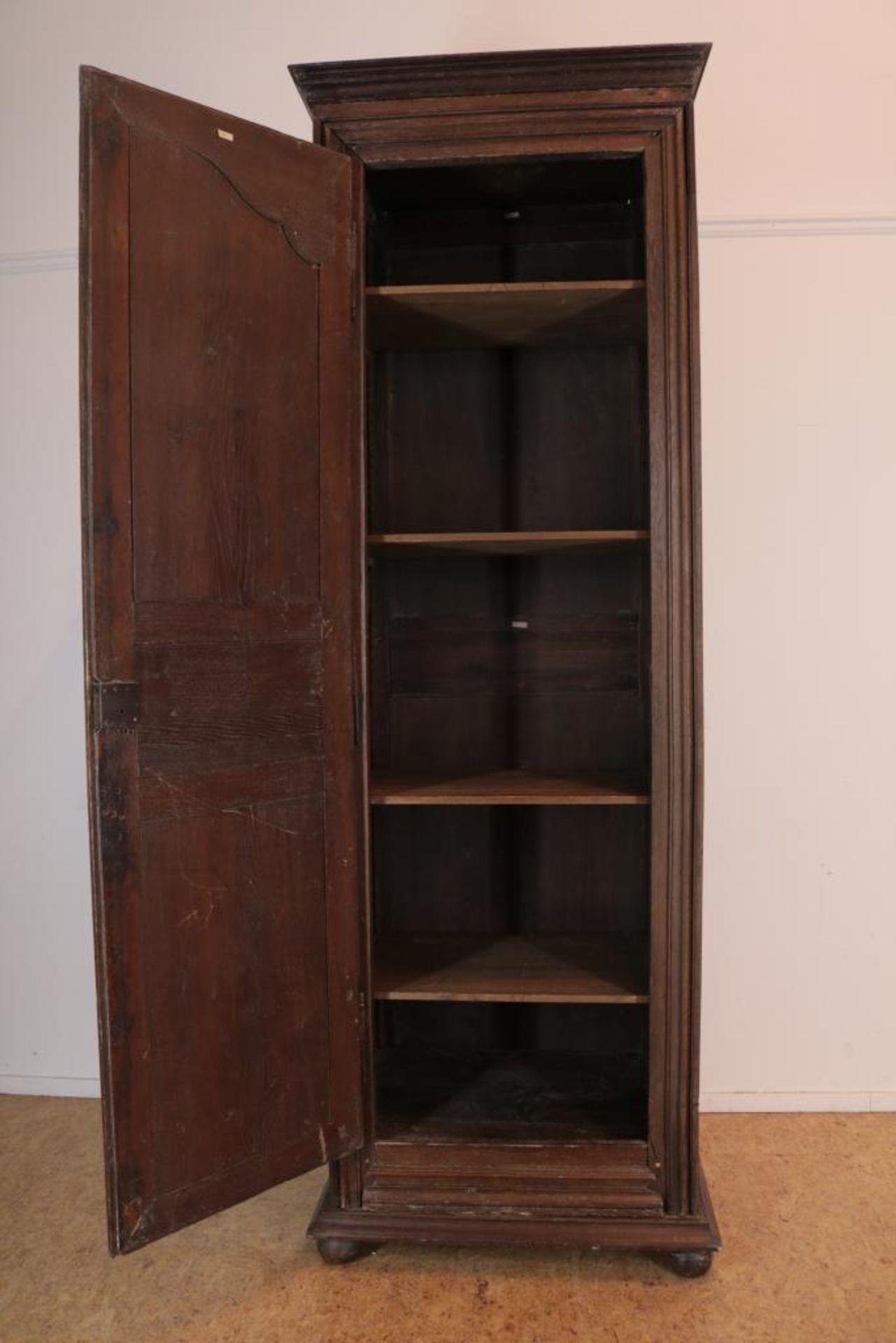 Eiken linnenkast met deur, Frankrijk - Image 2 of 4